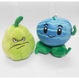 wholesale - Plants VS Zombies Plush Toy 2pcs Set - Winter Melon and Squash 18cm/7Inch Tall