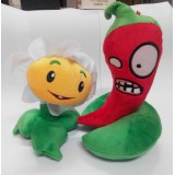 Wholesale - Plants VS Zombies Plush Toy 2pcs Set - Marigold 15cm/6inch and Jalapeno 19cm/7.4inch