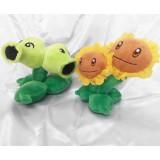 Wholesale - Plants VS Zombies Plush Toy 2pcs Set - Twin Sunflower 15cm/6inch and Split Pea 15cm/6inch