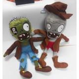 Wholesale - Plants vs Zombies 2 Series Plush Toy 2pcs Set - Pirate 30cm/12inch and Cowboy Zombie 30cm/12inch