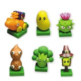 wholesale - 6 x Plants vs Zombies Toys Dark Ages Series Game Role Figures Polymer Clay Display Toy