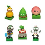 wholesale - 6 x Plants vs Zombies Toys Kongfu World Series Game Role Figures Display Toy Polymer Clay Decorations