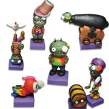 wholesale - 6 x Plants vs Zombies Toys Pirate Bay Series Game Role Figures Display Toy Polymer Clay Decorations