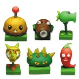 wholesale - Plants vs Zombies Toys Series Game Role Figures Display Toy Polymer Clay Toys 6Pcs Set