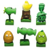 wholesale - Plants vs Zombies 2 Series Display Toys Game Role Figures Polymer Clay Decorations 6Pcs Set