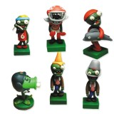 wholesale - Plants vs Zombies Toys Series Game Role Figures Zombies Polymer Clay Toys 6Pcs Set