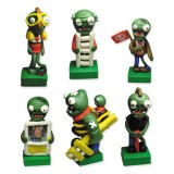 wholesale - Plants vs Zombies Series Display Toys Game Role Figures Polymer Clay Decorations Zombies 6Pcs Set