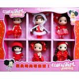wholesale - Cute Ddung Doll Vinyl Toy 6Pcs Set