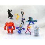 wholesale - Big Hero 6 Baymax Action Figures Toy 9Pcs Set 6-10cm/2.3-3.9inch