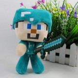 Wholesale - MineCraft My World Steve With Sword Doll Plush Toy 18cm/7inch