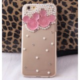 Wholesale - Hundromi 3D Bling Crystal Diamond Pearl Mickey Mouse Design Diamond Case Cover for iPhone 6 /6 Plus
