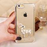 Wholesale - Ultra-thin Lovely Sheep Swarovski Diamond Phone Cover Protect Case for Apple iPhone 6 / 6 Plus