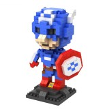 Wholesale - LOZ DIY Diamond Mini Blocks Figure Toy The Avengers Alliance 2 Captain America 310Pcs 9452