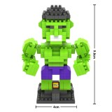 Wholesale - LOZ DIY Diamond Mini Blocks Figure Toy The Avengers Alliance 2 The Hulk 290Pcs 9451