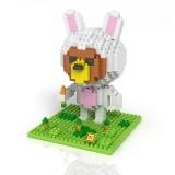 Wholesale - LOZ DIY Diamond Mini Blocks Figure Toy Rilakkuma 340Pcs 9431