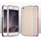 Wholesale - Basues Protection Cell Phone Cases Metal Frame Silicone Shell for Apple iPhone 6