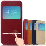 Wholesale - Baseus Aerb Classic Series Smart Window View Touch Metal Front Flip Cover for iPhone 6