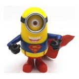 wholesale - Superman Minions Despicable 2 Me 3D Eyes Model Figure Toy Garage PVC Toy 19cm/7.5inch