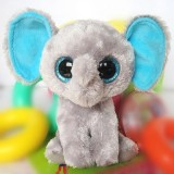 Wholesale - Original TY Collection Grey Elephant Plush Toys Stuffed Animals Kids Small Cute Stuffed Animal Doll Toy For Gift 15c