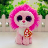 Wholesale - Original TY Big Eyes Collection Magic Pink Lion Plush Toys Stuffed Animals For Gift 15cm/5.9inch