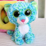 Wholesale - Original TY Big Eyes Collection Blue Leopard Plush Toys Stuffed Animals For Gift 15cm/5.9inch