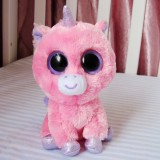 Wholesale - Original TY Big Eyes Collection Pink Unicorn Plush Toys Stuffed Animals For Gift 15cm/5.9inch