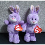 Wholesale - Original TY Big Eyes Collection Lavender Purple Rabbit Plush Toys Stuffed Animals 15cm/5.9inch