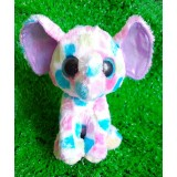 Wholesale - Lovely TY Collection Colorful Elephant Plush Toy Small Charms Stuffed Animal Plush Doll Toys 15cm/5.9inch