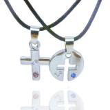 Wholesale - Jewelry Lovers Neckla Created Infinity Chain Pendant Cross Necklace 2Pcs Set X40