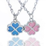 Wholesale - Jewelry Lovers Neckla Created Infinity Chain Pendant Four Leaf Clover Couple Necklace 2Pcs Set XL052