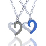 Wholesale - Jewelry Lovers Neckla Created Infinity Chain Pendant Heart-shaped Couple Necklace 2Pcs Set XL012