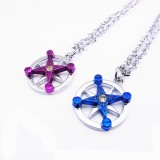 Wholesale - Jewelry Lovers Neckla Created Infinity Chain Pendant Kino Couple Necklace 2Pcs Set XL011