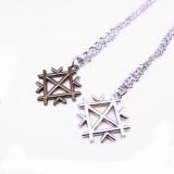 Wholesale - Jewelry Lovers Neckla Created Infinity Chain Pendant DIY Couple Necklace 2Pcs Set XL022