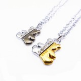 Wholesale - Jewelry Lovers Neckla Created Infinity Chain Pendant Sister Bear Couple Necklace 2Pcs Set XL018