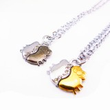 Wholesale - Jewelry Lovers Neckla Created Infinity Chain Pendant Hello Kitty Couple Necklace 2Pcs Set XL065