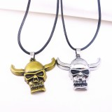 Wholesale - Jewelry Lovers Neckla Created Infinity Chain Pendant Ox-head Couple Necklace 2Pcs Set XL012