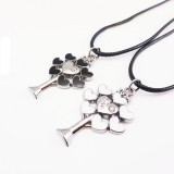 Wholesale - Jewelry Lovers Neckla Created Infinity Chain Pendant Love Tree Couple Necklace 2Pcs Set XL258