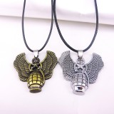Wholesale - Jewelry Lovers Neckla Created Infinity Chain Pendant Grenades Couple Necklace 2Pcs Set XL012