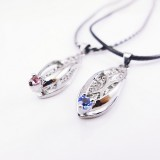 Wholesale - Jewelry Lovers Neckla Created Infinity Chain Pendant The Slippers Couple Necklace 2Pcs Set XL212