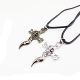 Wholesale - Jewelry Lovers Neckla Created Infinity Chain Pendant Cross Necklace 2Pcs Set XL083