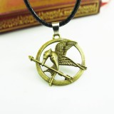 Wholesale - Fashion Character Mockingjay Pendant Necklace Charm Chain Jewelry for Men DG112