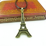 Wholesale - Fashion Character Eiffel Tower Pendant Necklace Charm Chain Jewelry for Men DG126