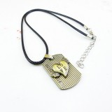 Wholesale - Fashion Character Loving heart Pendant Necklace Charm Chain Jewelry for Men DG067
