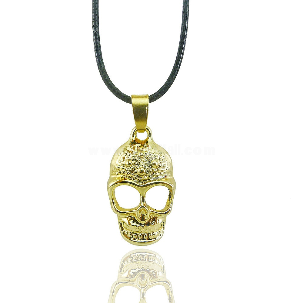 Fashion Character Skull Pendant Necklace Charm Chain Jewelry for Women X28