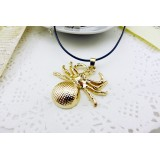Wholesale - Fashion Character Spider Pendant Necklace Charm Chain Jewelry for Women X38