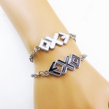 Wholesale - Jewelry Lovers Bracelets Created Infinity Charm Chain EXO-K Couple Bangles 2Pcs Set