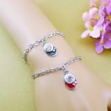 Wholesale - Jewelry Lovers Bracelets Created Infinity Charm Chain Musical Symbols Couple Bangles 2Pcs Set