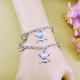 Wholesale - Jewelry Lovers Bracelets Created Infinity Charm Chain Skullcandy Couple Bangles 2Pcs Set