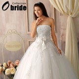 Wholesale - Ball Gown Strapless Sweetheart Wedding Dresses with Beaded Applique