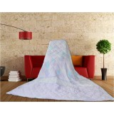 Wholesale - SIMOYO Blue Flower Lightweight Natural Silk Comforter For Summer 71*82inch